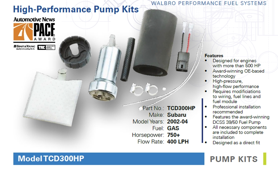 Walbro TCD300HP Fuel Pump 39/50 DSS