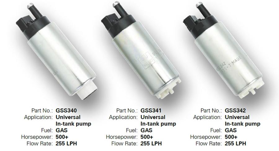 Genuine Walbro GSL392 255LPH In-Line Fuel Pump HP 6 Fittings